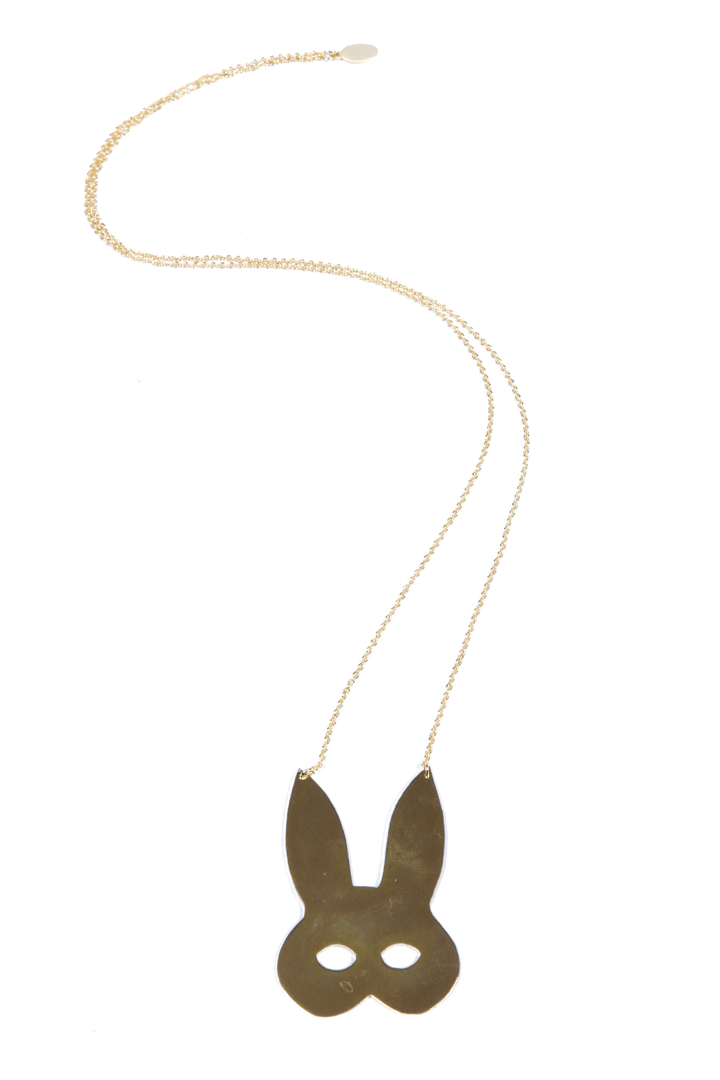 f_licie aussi Gold-Plated Rabbit Mask Necklace - Main Image