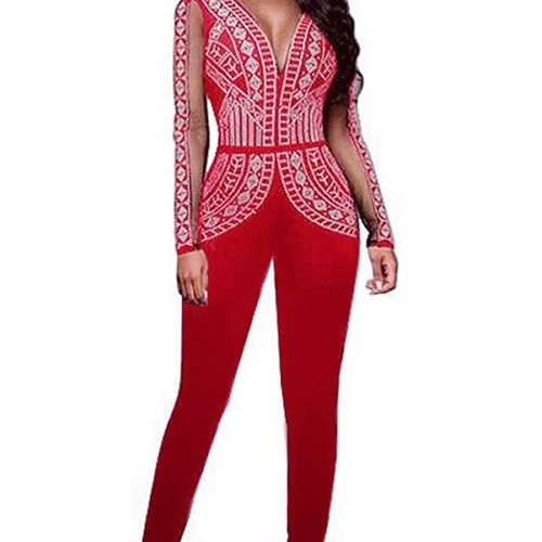 Unknown Factory Studded Red Bodysuit - Main Image