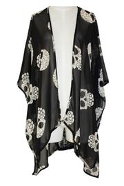 Shoptiques Product: Candy Skull Kimono - Front cropped