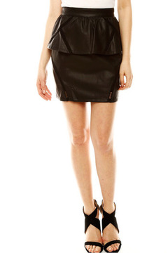Moon Collection Pleather Skirt - Product List Image