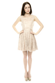 The Clothing Co BabyDoll Faux Leather Dress - Front full body