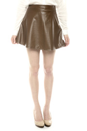 Shoptiques Product: Leather Circle Skirt