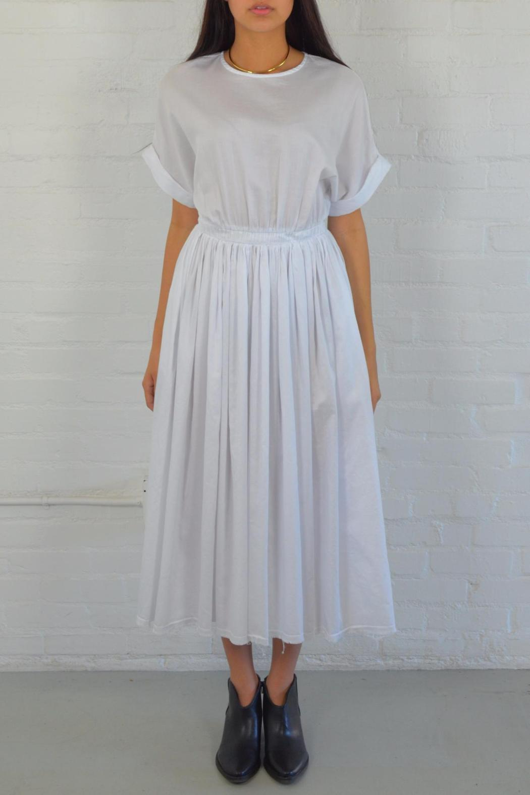 Black Crane White Pleats Dress From Arizona By Hub