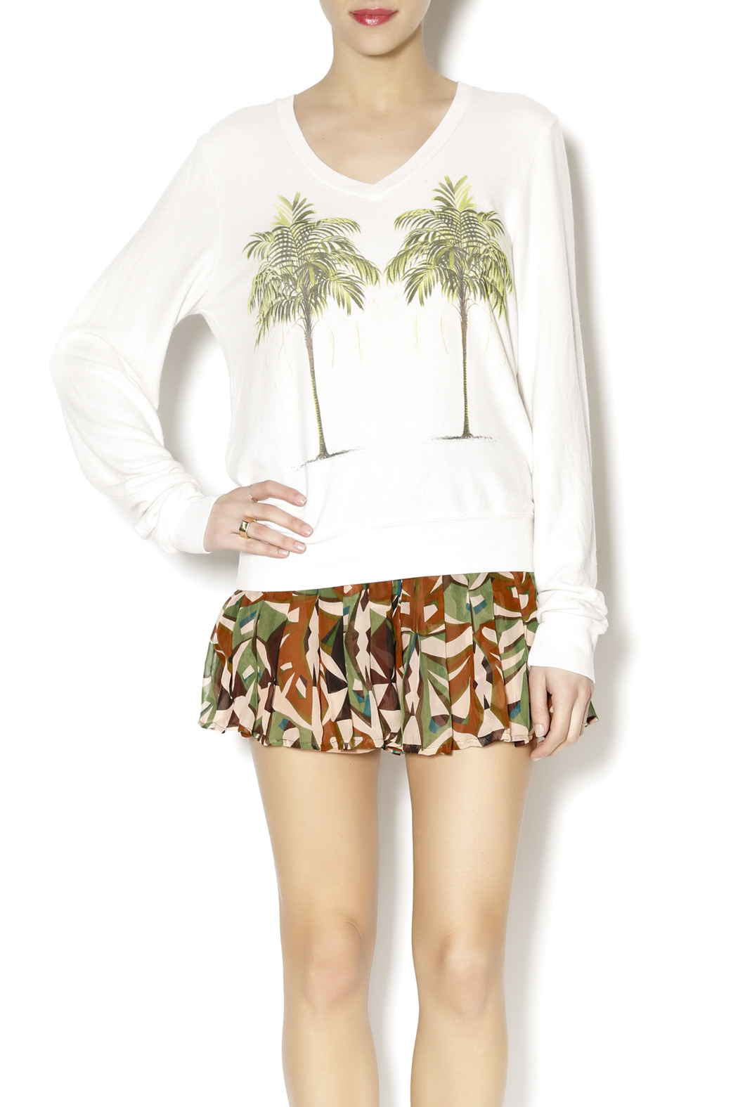 Wildfox Palms Tee - Front Cropped Image