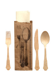 Seletti Disposable Wooden Cutlery - Front cropped