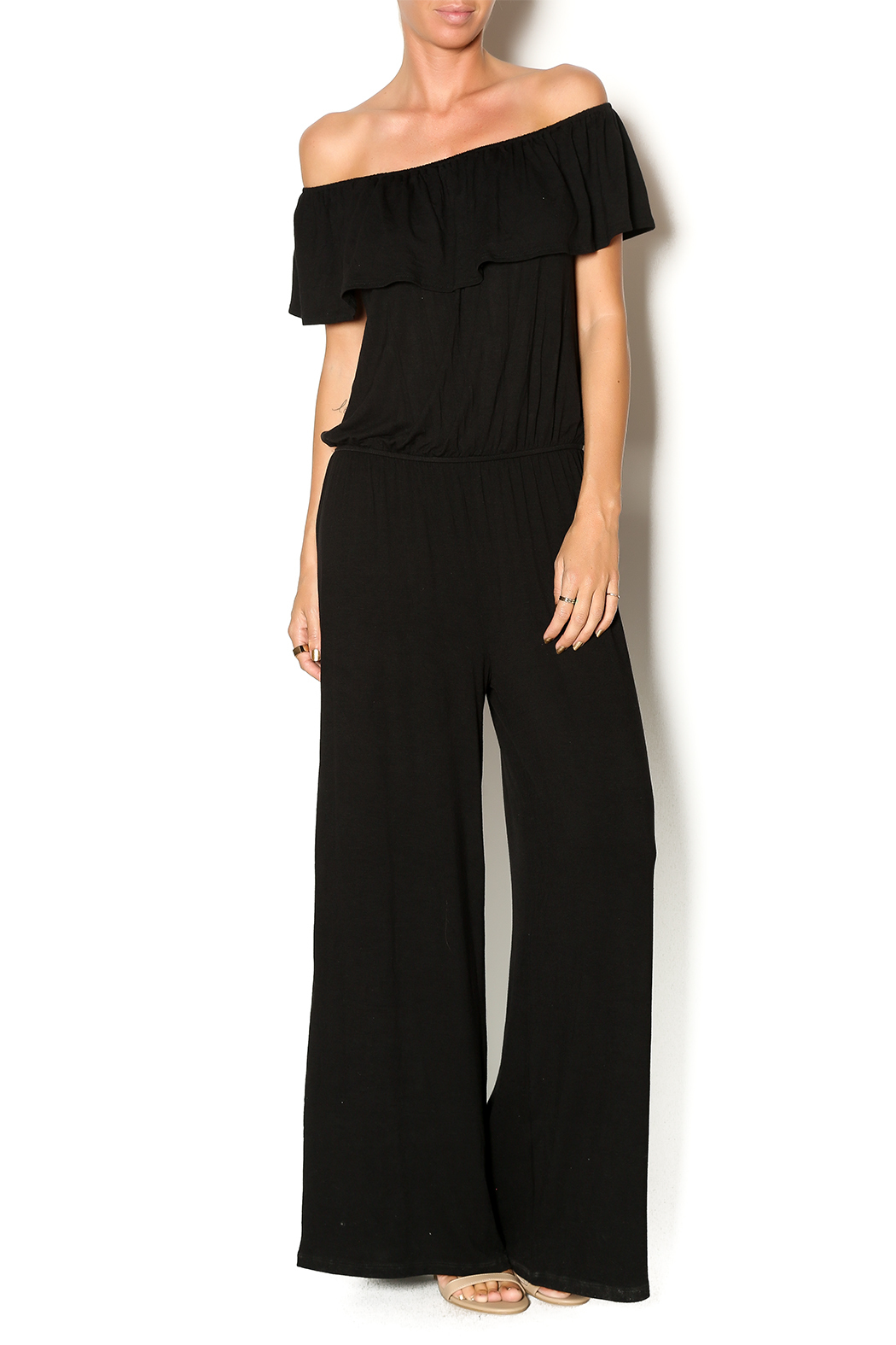 Chatoyant  Off Shoulder Jumsuit - Main Image