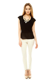 Gracia Ribbed Riding Pant - Front full body