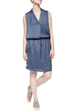 Shoptiques Product: V-Neck Drawstring Dress