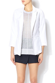 Shoptiques Product: White Linen Blazer