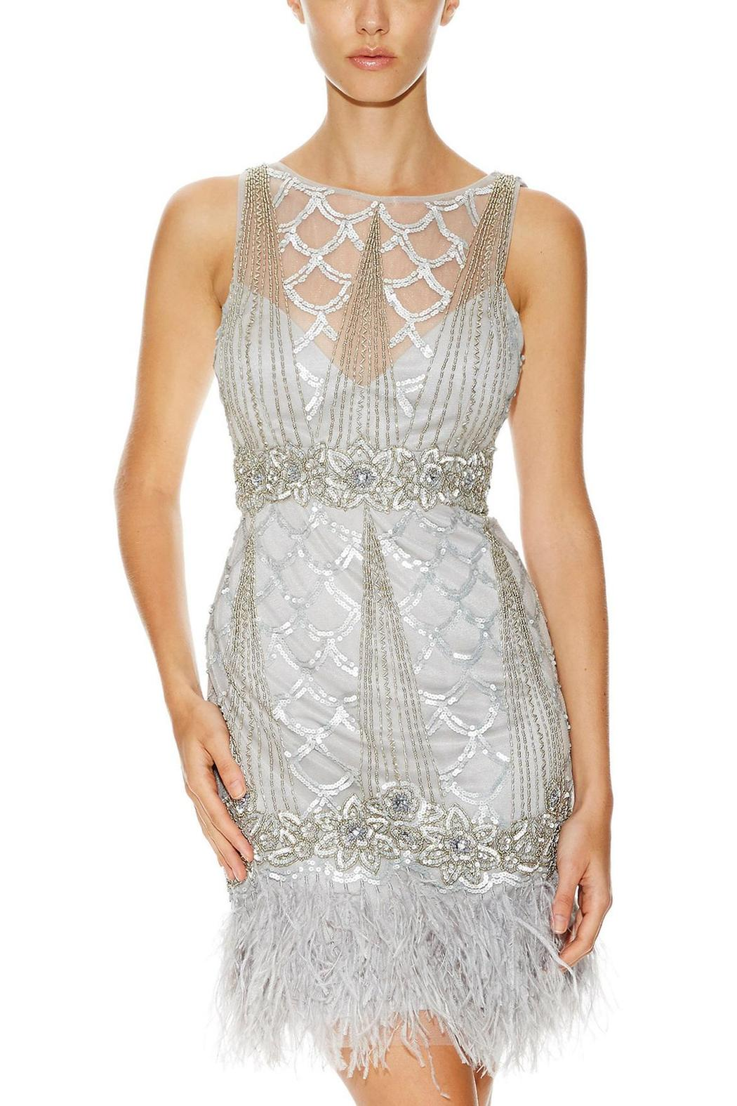 Sue Wong Gatsby Feather Dress Front Cropped Image