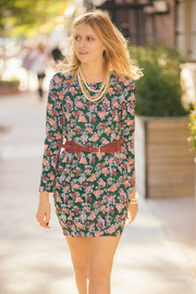 Pinkyotto Floral Dress - Front cropped
