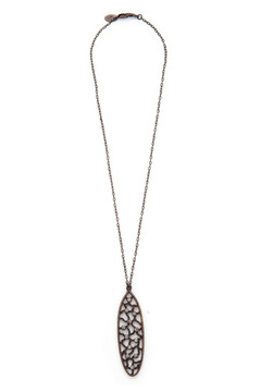 Rebel Designs Oval Crystal Necklace - Product List Image