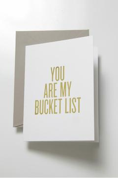 Shoptiques Product: Bucket List Card
