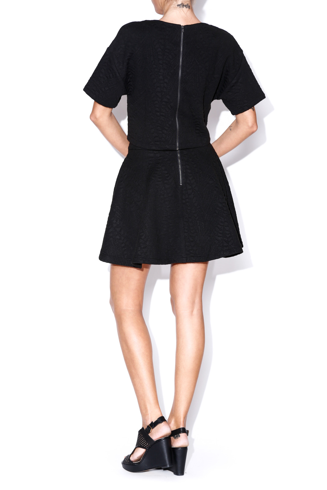 Lush Quilted Skater Skirt - Side Cropped Image
