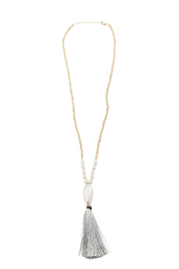 Jewels By Joanne Long Wood Tassel Necklace - Main Image