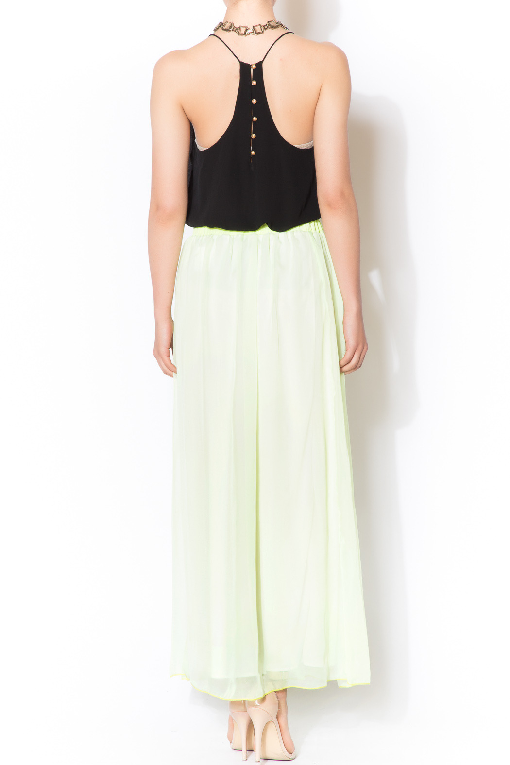 lime maxi skirt from connecticut by caren forbes shoptiques