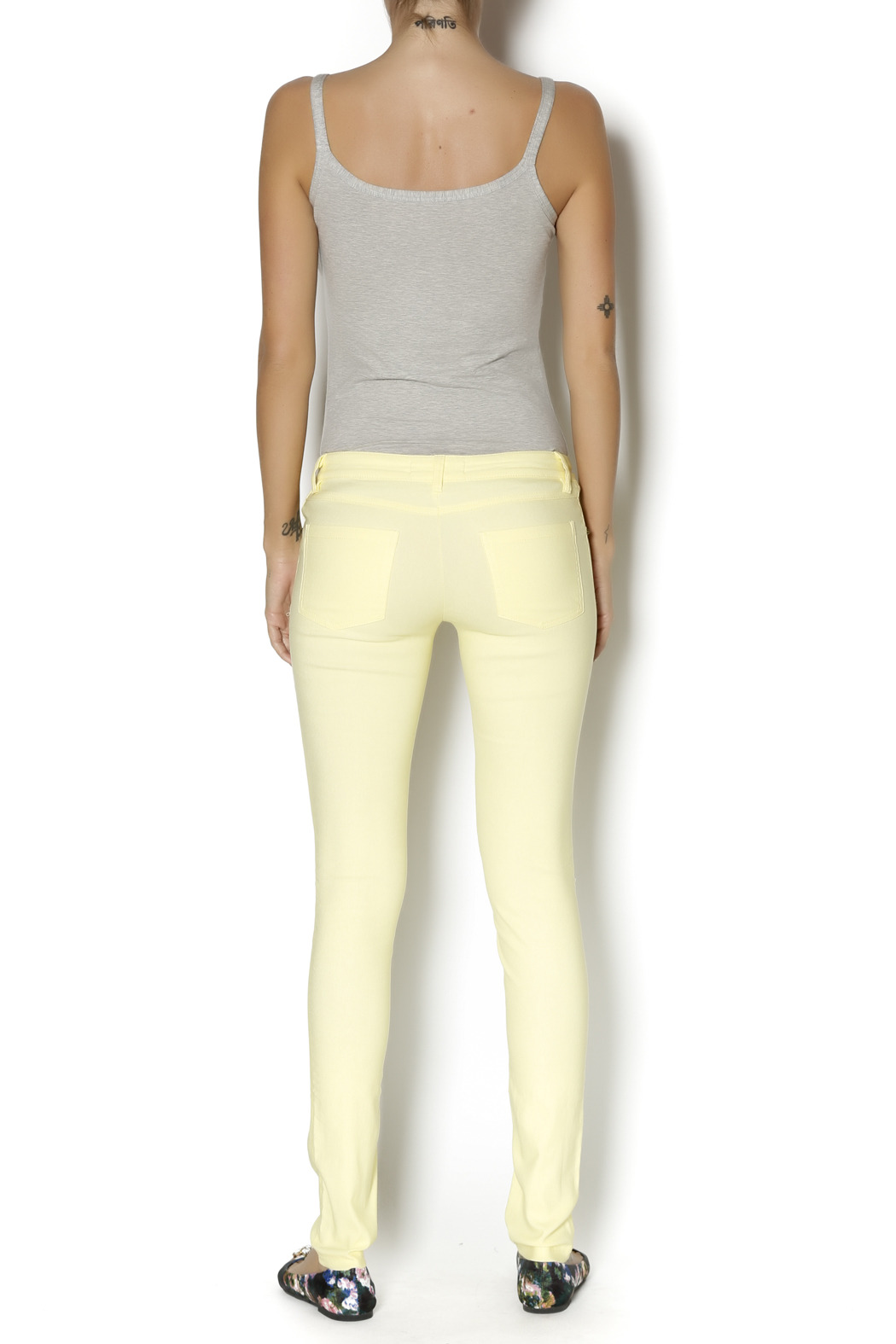 Karlie Neon Yellow Jeggings - Side Cropped Image