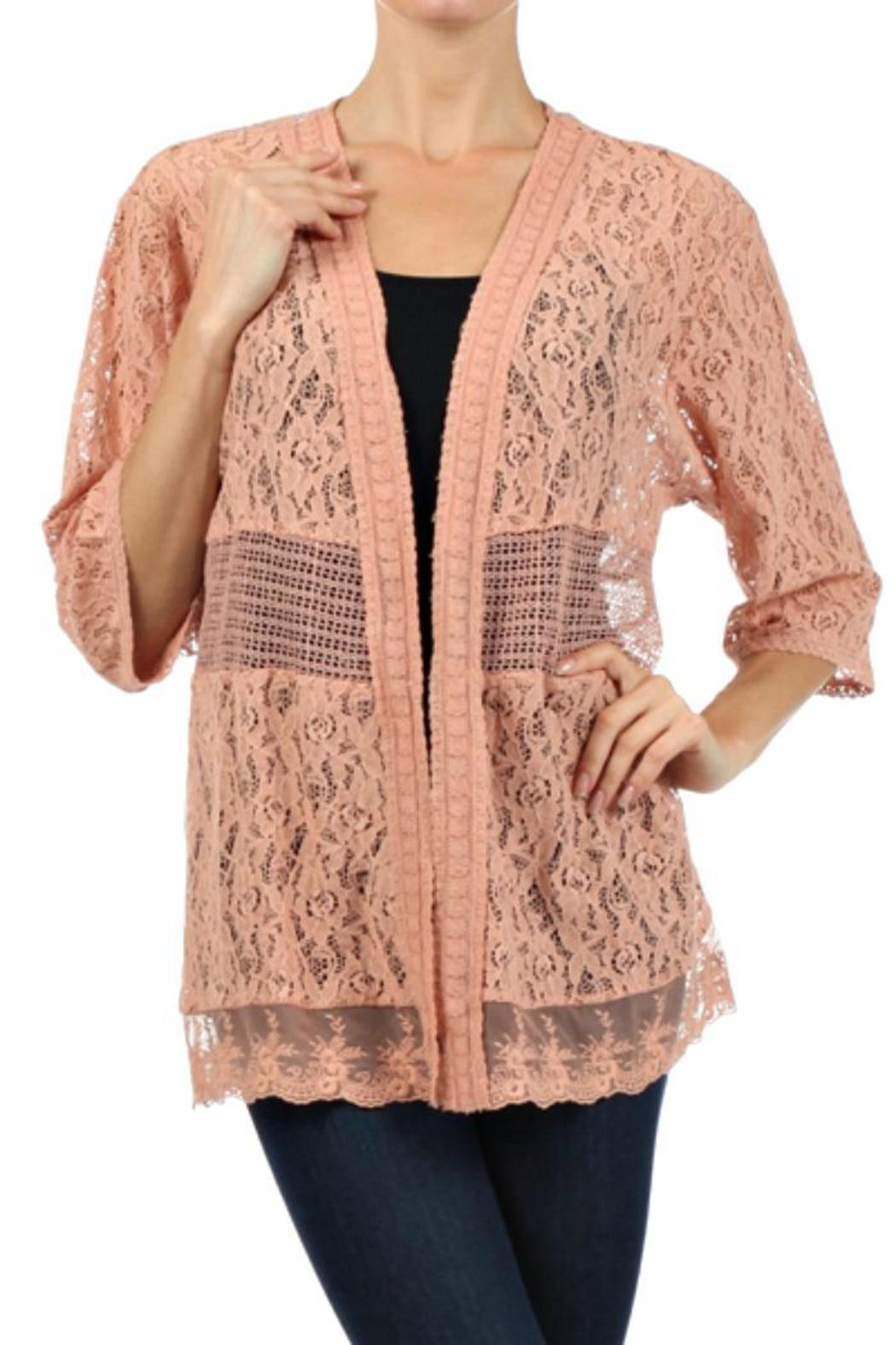 Flying Tomato Peach Lace Cardigan from Tennessee by Southern Muse ...