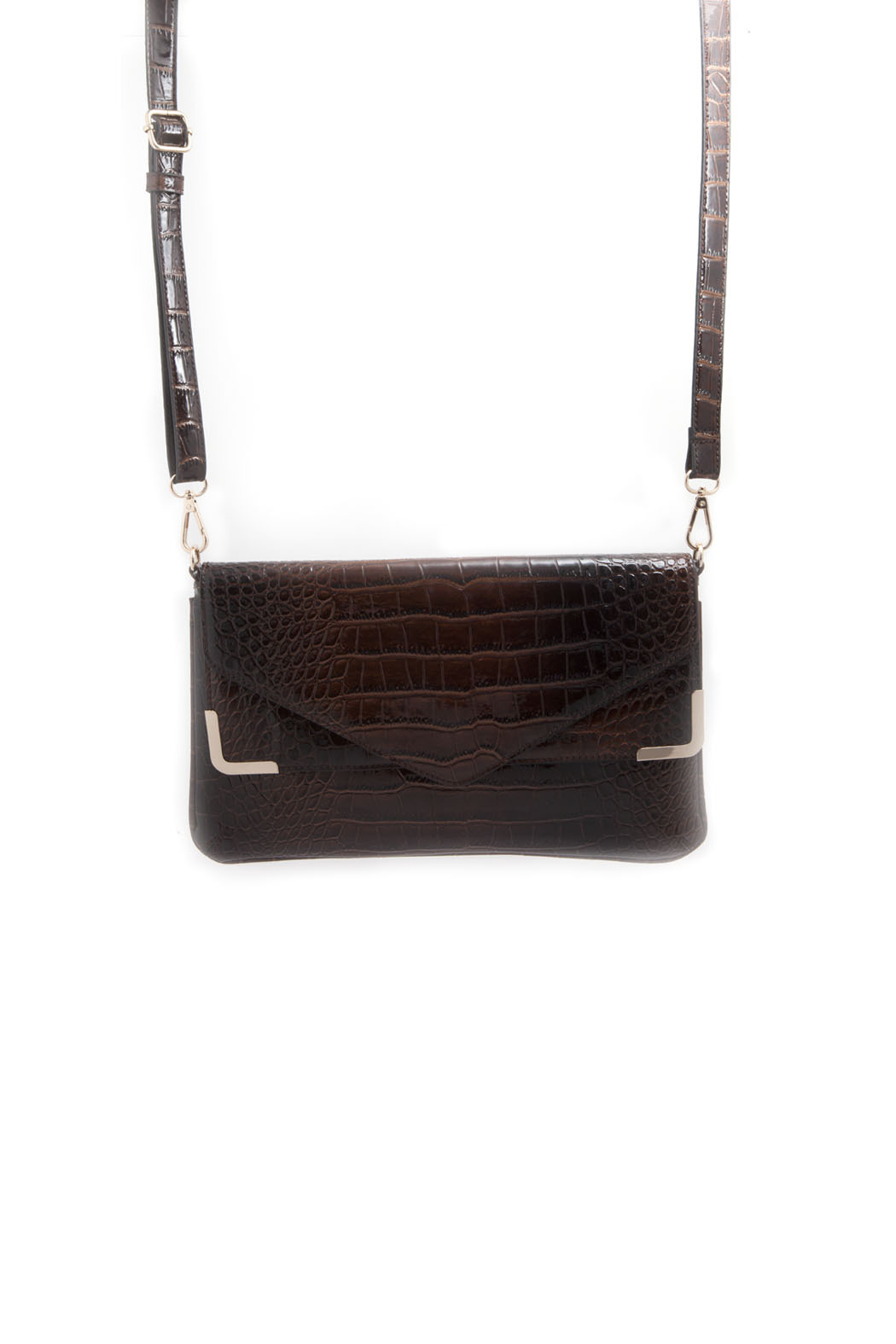 Melie Bianco Patent Envelope Clutch - Front Cropped Image