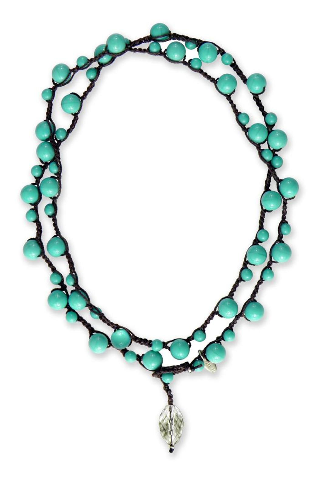 on u Turquoise Michelle Necklace - Front Cropped Image
