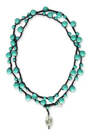 on u Turquoise Michelle Necklace - Front cropped