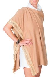 CLAIRE FLORENCE Beige Fur Cape - Product Mini Image