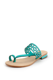 Trina Turk Blue Brentwood Sandal - Front cropped