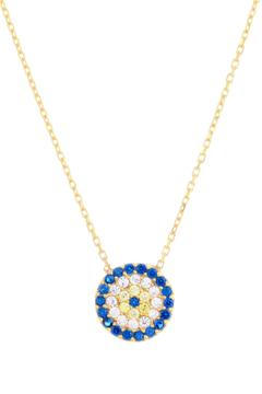 Earthy Chic Evil Eye Necklace - Product List Image