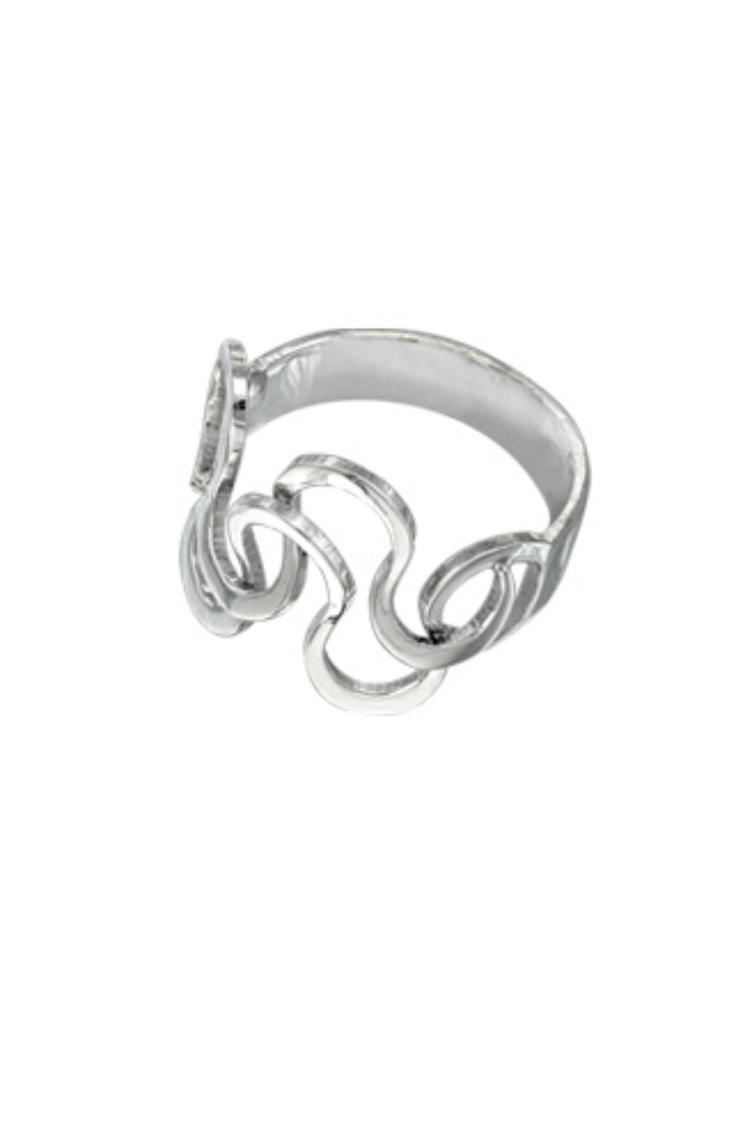 TeGo Silver Foam Ring - Front Cropped Image