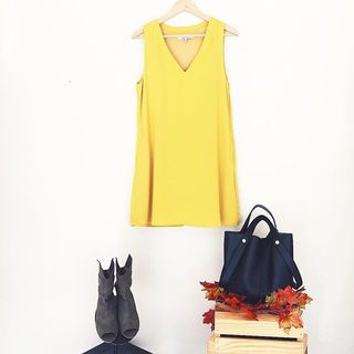 Shoptiques Product: Mustard Yellow Dress