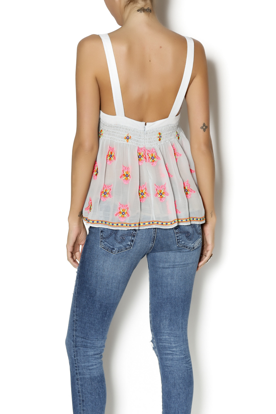 Plenty by Tracy Reese Flirty Tank Top - Back Cropped Image