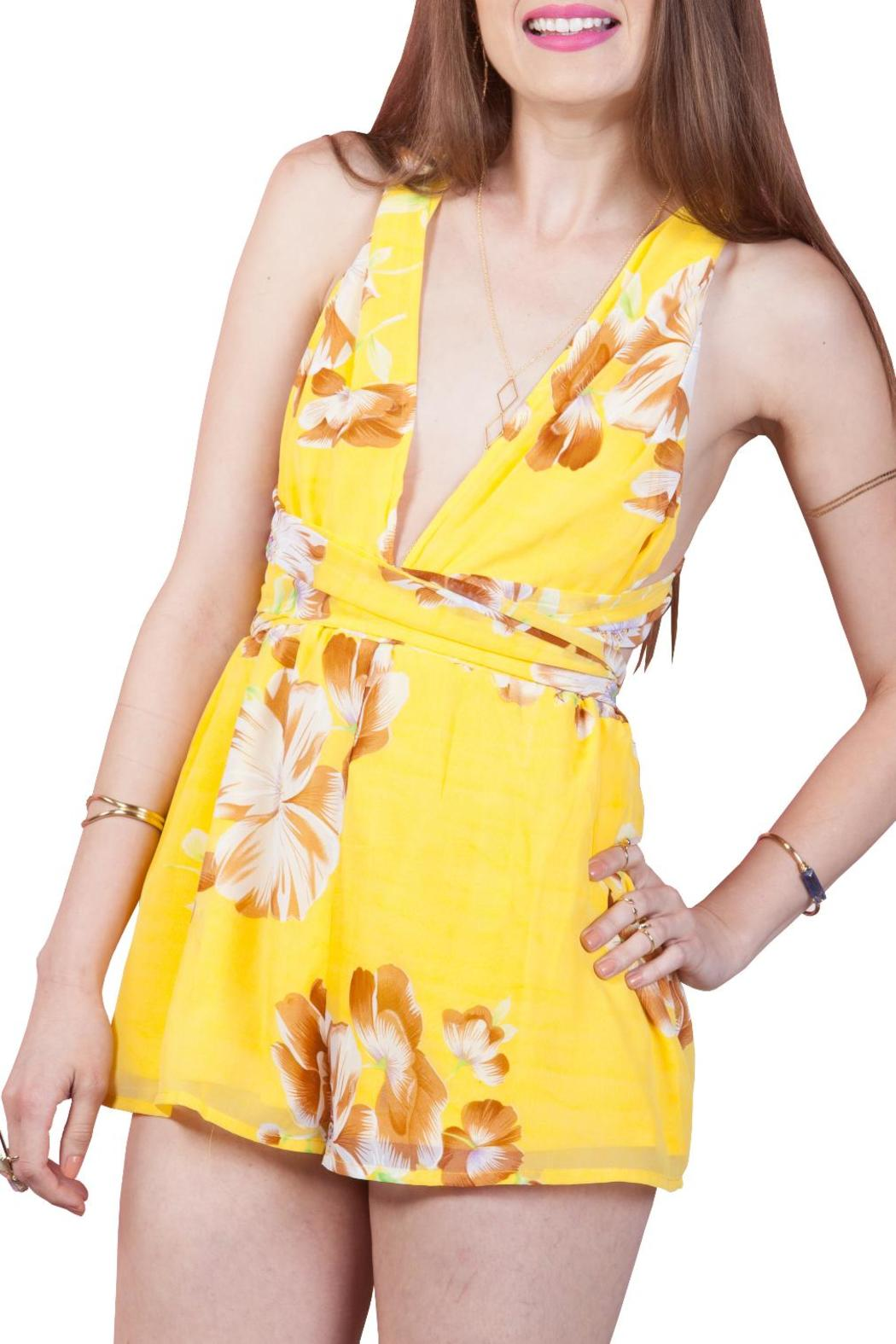 feba6b1f78e Yellow Floral Multiway Romper from California by Ooh La Luxe ...