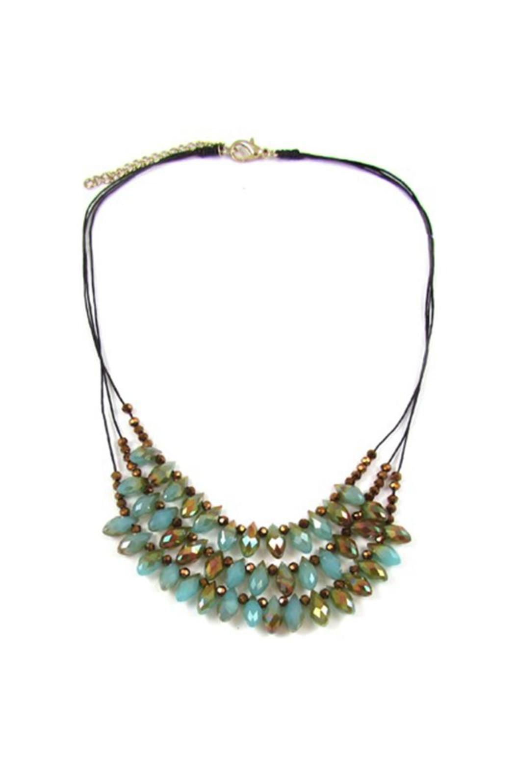 Ananda Blue Crystal Necklace - Main Image