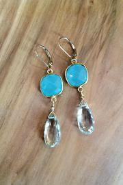Melinda Lawton Jewelry Chalcedony Green Amethyst - Front full body