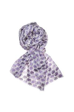 Julie Collection Purple Elephant Scarf - Alternate List Image