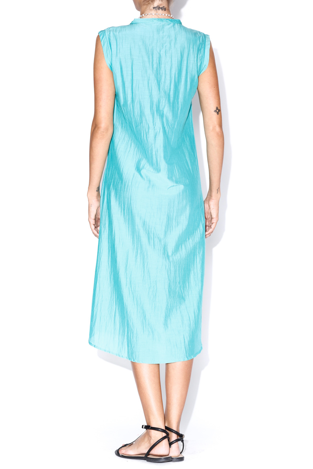matta Turquoise Puja Dress - Back Cropped Image
