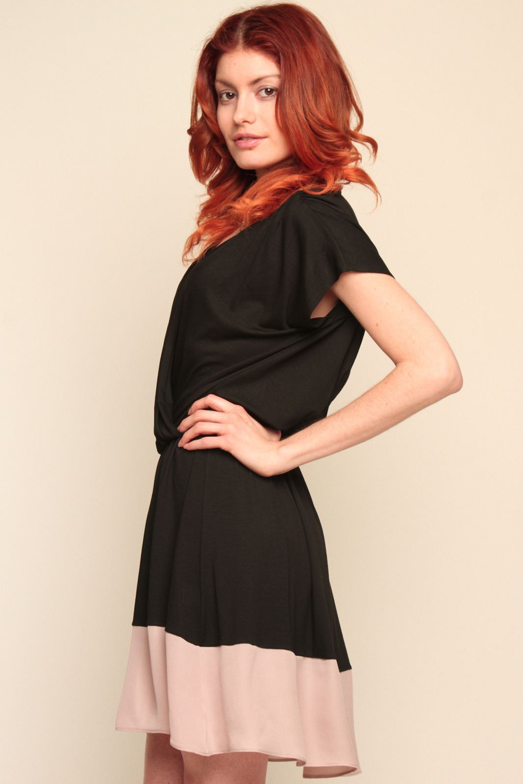 Mason Silk Wrap Dress - Side Cropped Image