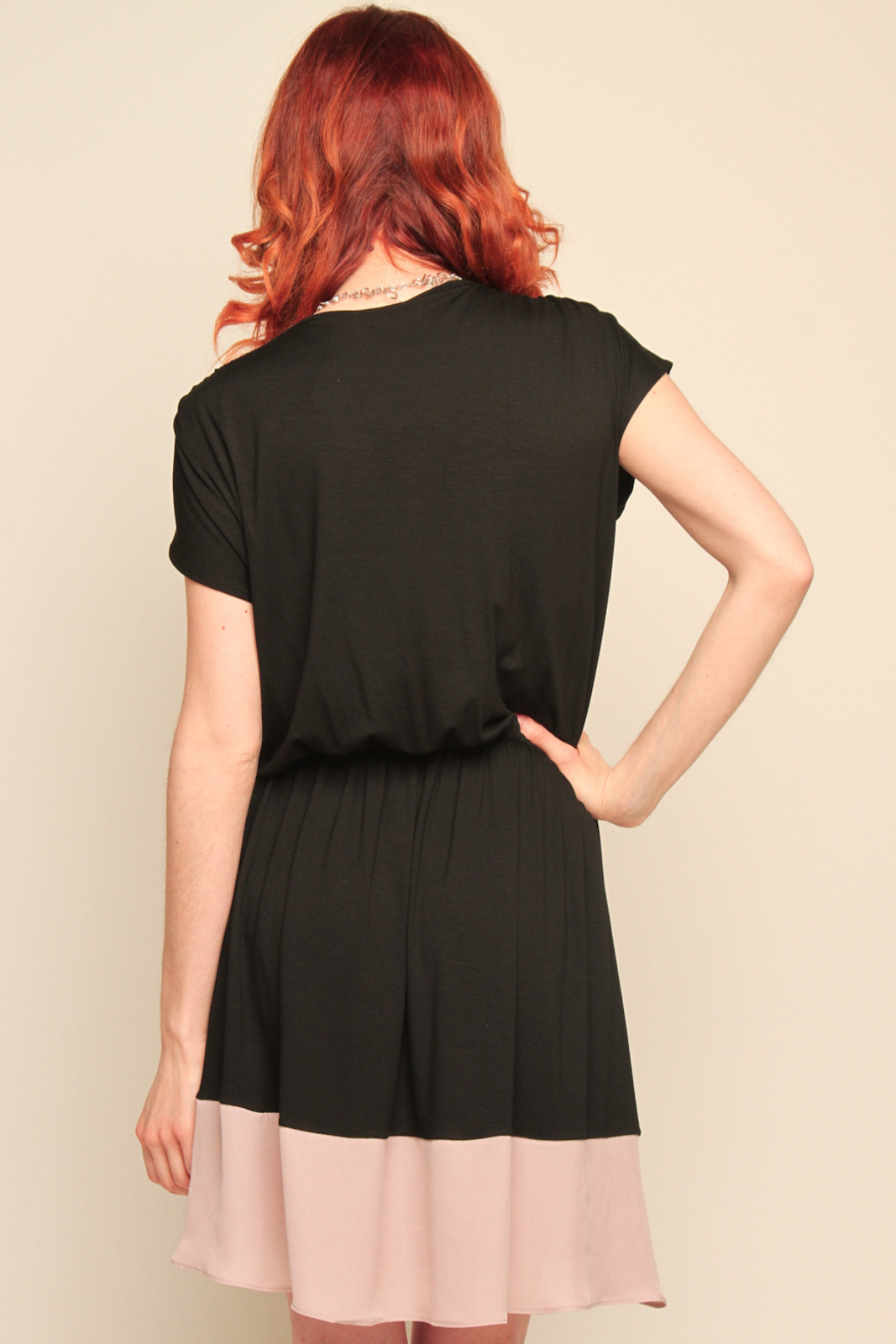 Mason Silk Wrap Dress - Back Cropped Image