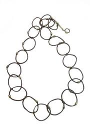 Made It! Leather Hoop Necklace - Front full body