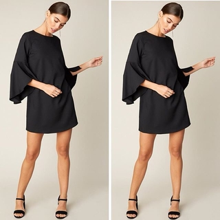 Unknown Factory The Mona Bell-Sleeve Dress - Instagram Image