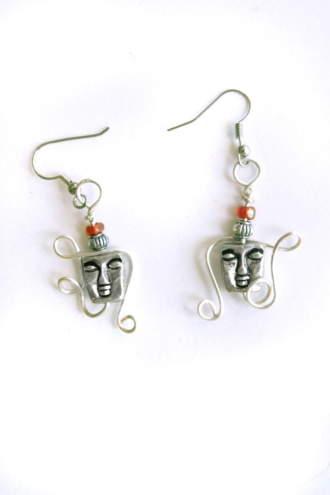 Christine Cummings Silver Face Earrings - Main Image