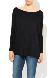 InStyle Black Dolman Sweater - Front cropped