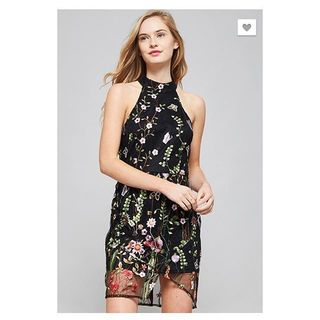 Shoptiques Black Floral Sleeveless Dress