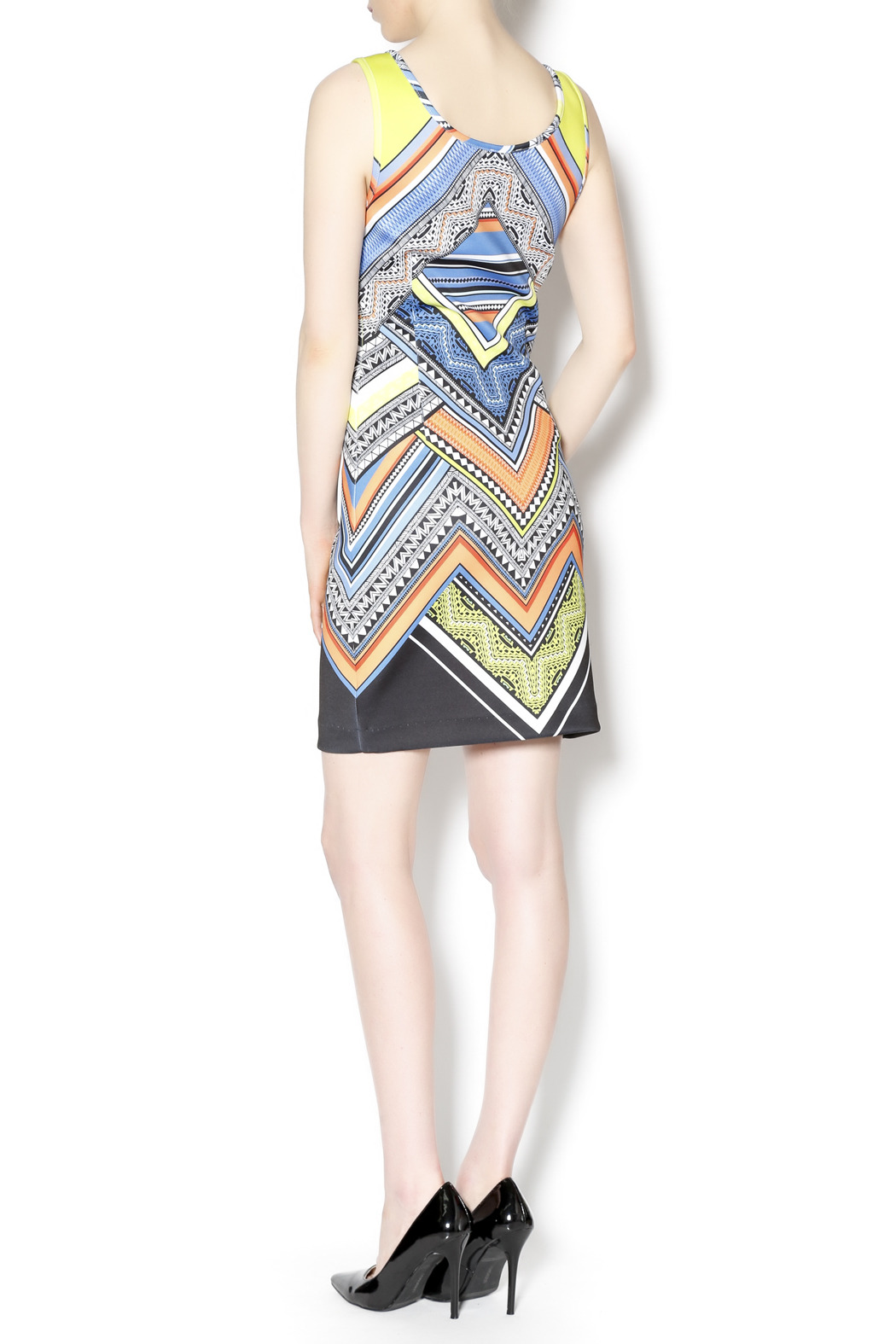 Laundry multicolored tank dress - Side Cropped Image