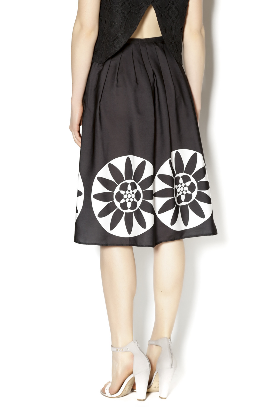 desigual pleated circle skirt from florida by i tesori