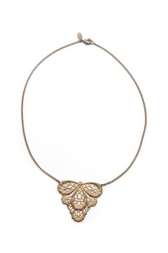 Shoptiques Product: Filigree Pendant Necklace