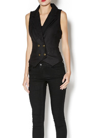 2OH Threads Black Vest - Front cropped