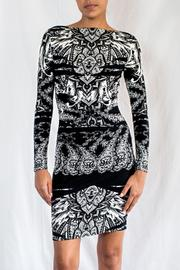Nicole Miller Printed Jersey Dress - Front cropped