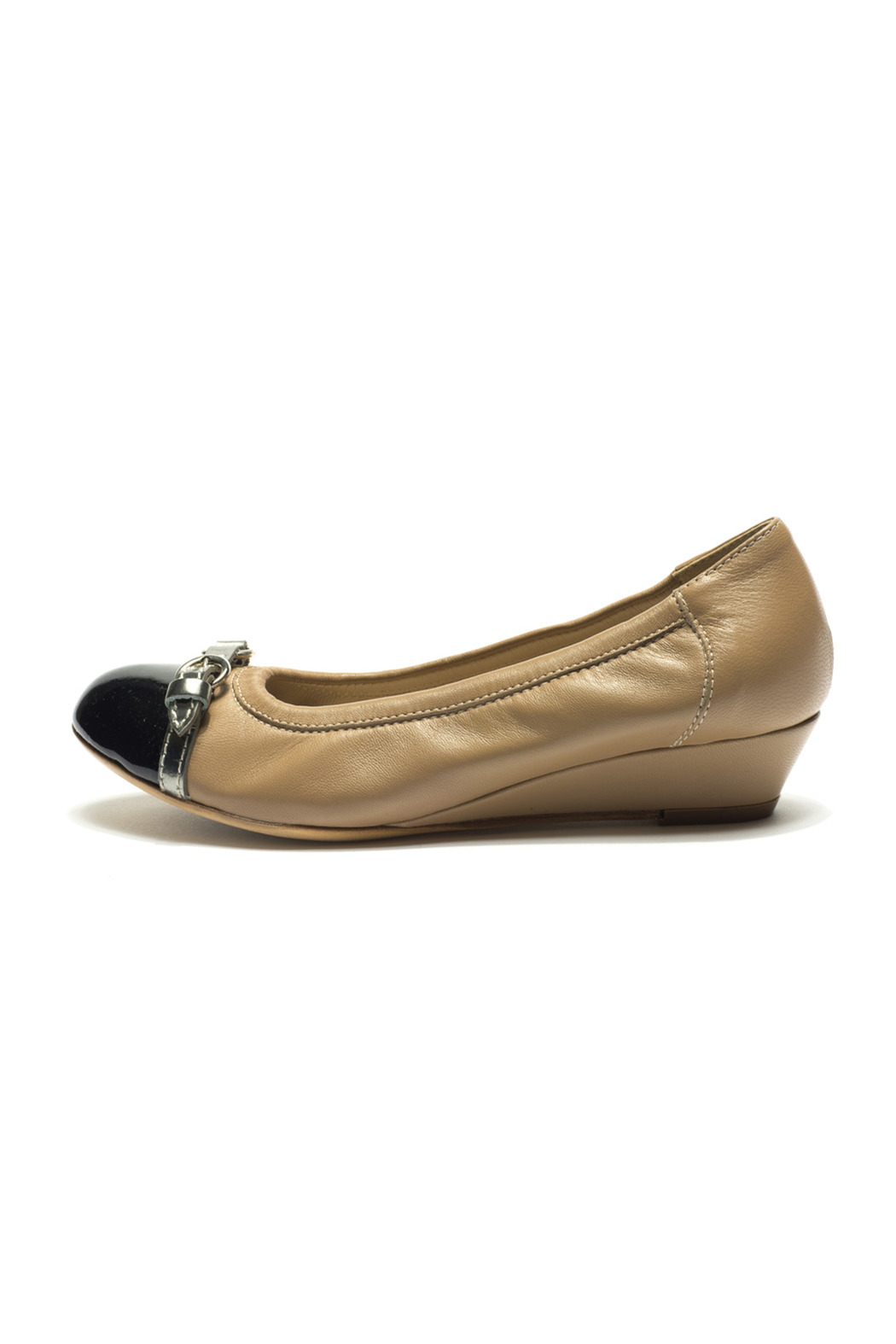 AGL Patent Black Leather Pointed Round-Toe Oxfords | Black