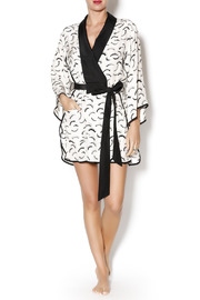 Dear Bowie Eyelash Print Robe - Front full body